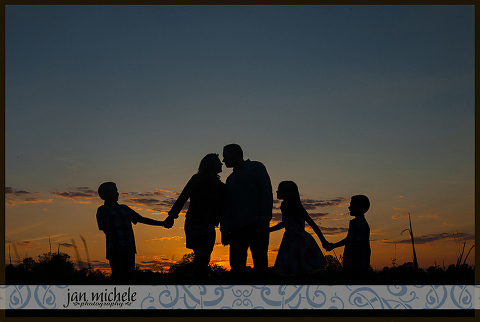 Sunset Family Photos at 48 Fields Farm | Jan Michele Photography