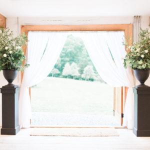Black Pedestals in Something Borrowed Wedding Closet | 48 Fields Wedding Venue in Leesburg VA