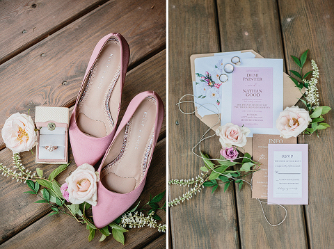 Pink, Gold, and Marble Spring Wedding at 48 Fields Farm in Leesburg, VA
