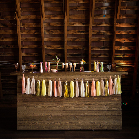Custom Barn Wood Bar for Receptions at 48 Fields Farm | Barn Wedding Venue in Leesburg VA