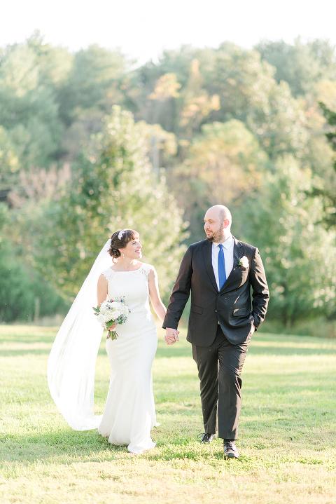 Bride and Groom Portraits at 48 FIelds Farm | Barn Wedding Venue in Leesburg, VA