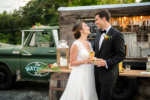 Mobile Bar Truck with Custom Cocktails for Weddings at 48 Fields Farm in Leesburg, VA