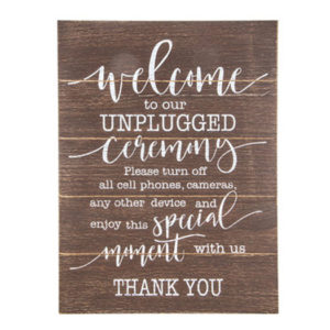 Rustic Wood Calligraphy Unplugged Ceremony in the Something Borrowed Wedding Closet | 48 Fields Farm in Leesburg, VA