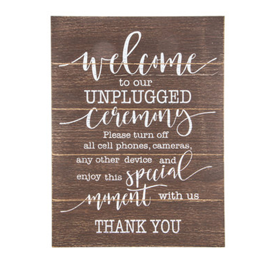 Rustic Wood Calligraphy Unplugged Ceremony in the Something Borrowed Wedding Closet   48 Fields Farm in Leesburg, VA