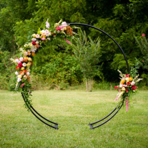 Modern Floral Moongate in the Something Borrowed Wedding Closet | 48 Fields Farm in Leesburg, VA