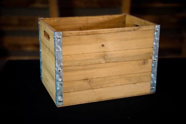 Rustic Wood Crate in the Something Borrowed Wedding Closet | 48 Fields Farm in Leesburg, VA