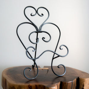 Black Metal Table Top Easel in the Something Borrowed Wedding Closet | 48 Fields Farm in Leesburg, VA