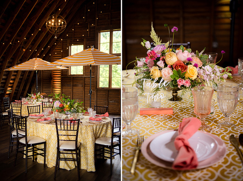 Summer Inspired Styled Shoot at 48 Fields Farm in Leesburg, VA | Barn Wedding
