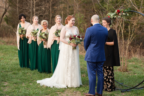 Outdoor wedding ceremony 48 Fields wedding venue
