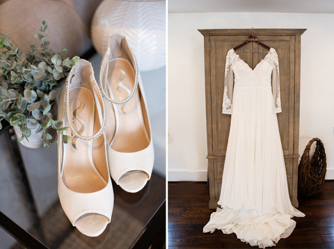 Classic bride wedding dress getting ready - 48 Fields Wedding Venue | Leesburg VA