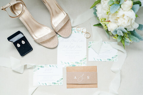 getting ready invitation suite shoes accessories - 48 Fields Wedding Barn | Leesburg VA
