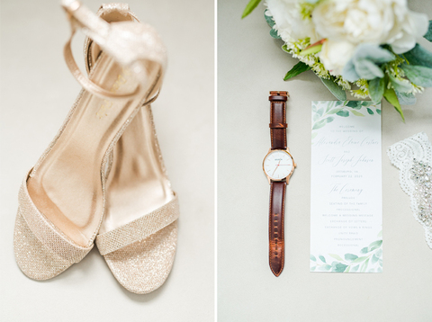 getting ready stationery shoes accessories - 48 Fields Wedding Barn | Leesburg VA
