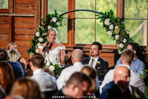 reuse reception moon gate to save money - 48 Fields Wedding Barn | Leesburg VA