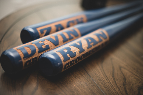 groomsmen gifts personalized baseball bat - 48 Fields Wedding Barn | Leesburg VA