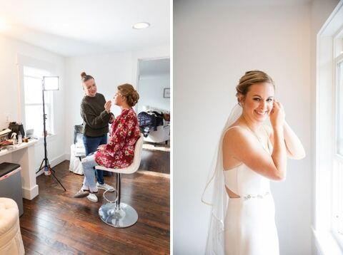bride getting ready - 48 Fields Wedding Barn | Northern VA
