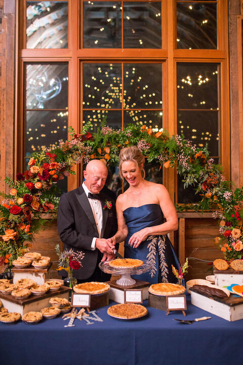 fall wedding reception decor floral hoop dessert table backdrop - 48 Fields Wedding Barn | Leesburg VA