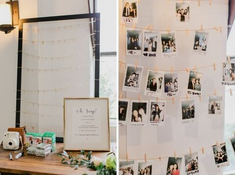 guest book alternative polaroids - 48 Fields Wedding Barn | Northern VA