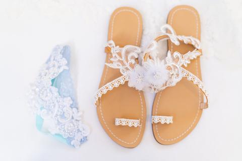 wedding sandals garter something blue - 48 Fields Wedding Barn   Northern VA