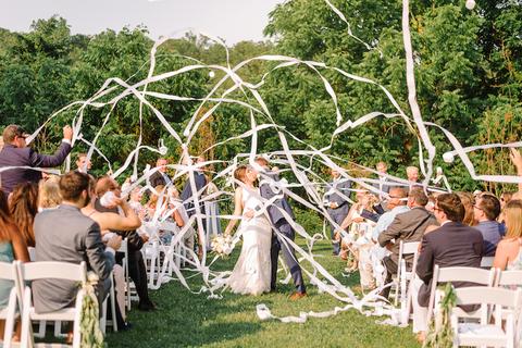 streamers fun wedding ceremony ideas - 48 Fields Wedding Barn | Northern VA