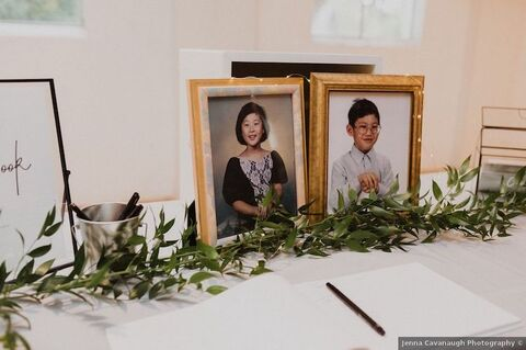 memory table fall wedding with alpacas - 48 Fields Wedding Barn | Leesburg VA