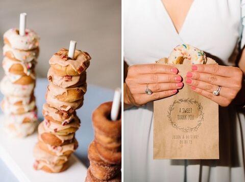 donut wedding favor - 48 Fields Wedding Barn | Leesburg VA