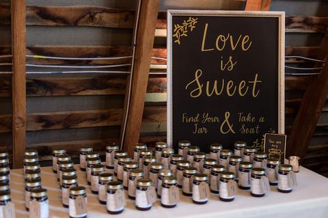 jam wedding favor - 48 Fields Wedding Barn | Leesburg VA
