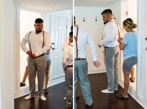 groom getting ready spring wedding - 48 Fields Wedding Barn   Leesburg VA