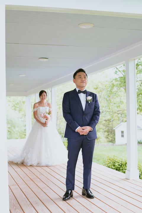 first look korean american barn wedding - 48 Fields Wedding Barn | Leesburg VA