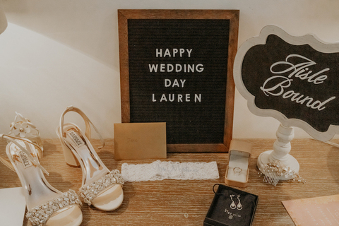 letterboard wedding suite getting ready summer wedding - 48 Fields Wedding Barn | Leesburg VA