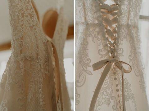 wedding dress getting ready summer wedding - 48 Fields Wedding Barn | Leesburg VA